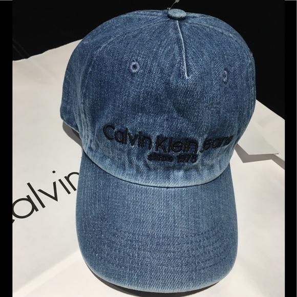 f202119aaaf Calvin Klein Hat adjustable Blue Jean style NWT